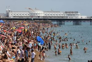 Brighton beach: The British seaside gets a little crowded during heat waves