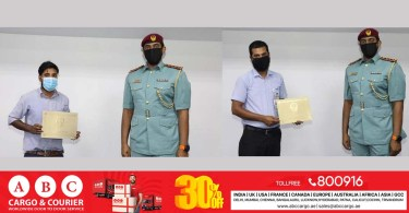 Ajman Civil Defense pays tribute to 2 Asian workers who helped put out a fire in Ajman_dubaivartha
