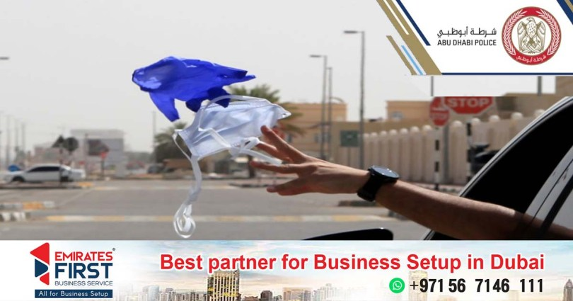 In the UAE, heavy fines are imposed for throwing masks and gloves on the road_dubaivartha