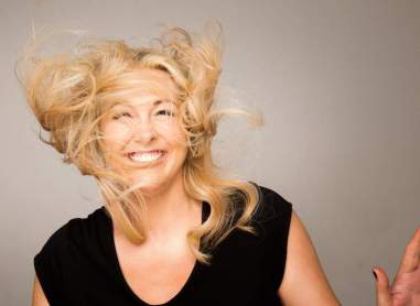 Tracy Clifford for the Get Blown Away fundraiser campaign for ISPCC Childline