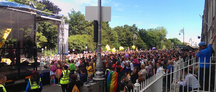 Dublin LGBTQ Pride Village and stage
