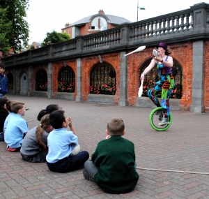 Unicycle and Juggling