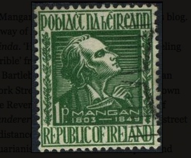 Mangan, Stamp of James Clarence Mangan