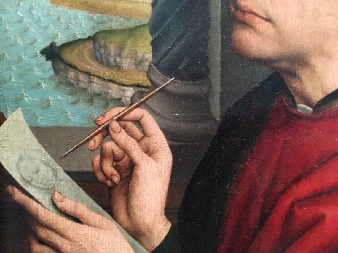 How to Read a painting DEtail 5, from Dublin DEcoded at the Nationa-l Gallery of ireland