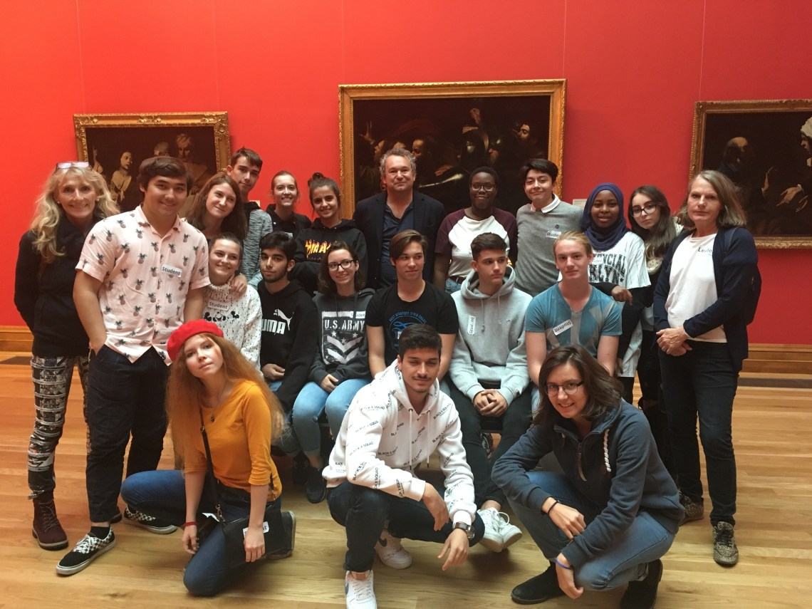 an art tour for Austrian students, led by Arran Henderson of Dublin Decoded, at the National Gallery of Ireland.