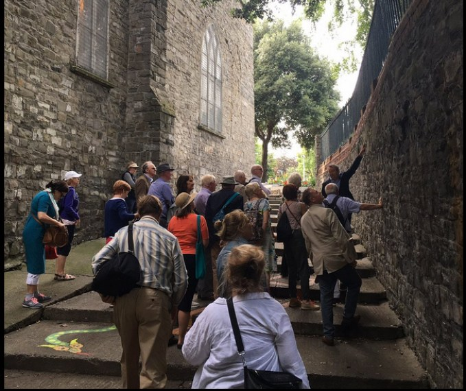 Dublin Medieval Walls tour with Arran Henderson of Dublin Decoded