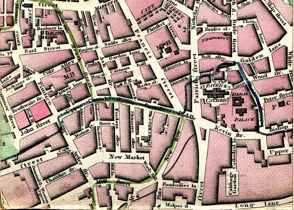 Newmarket and area, 1790s.
