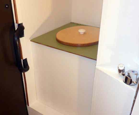 Ein geniales Konzept. Trockentoilette.