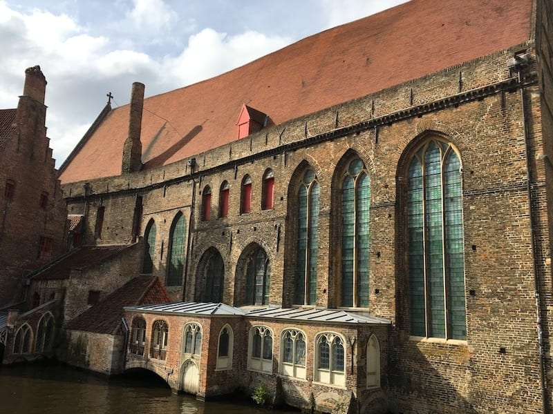 The oldest hospital in Europe is in Bruges. Belgium