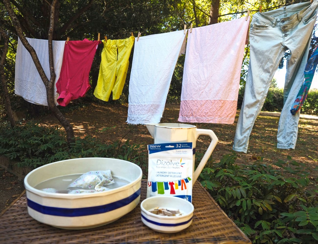 Dizolve hilft beim Wäsche waschen