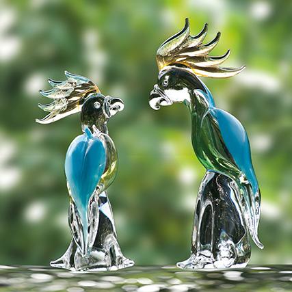 PAPPAGALLI TURCHESI Turquoise Parrots H 35 / 45 cm