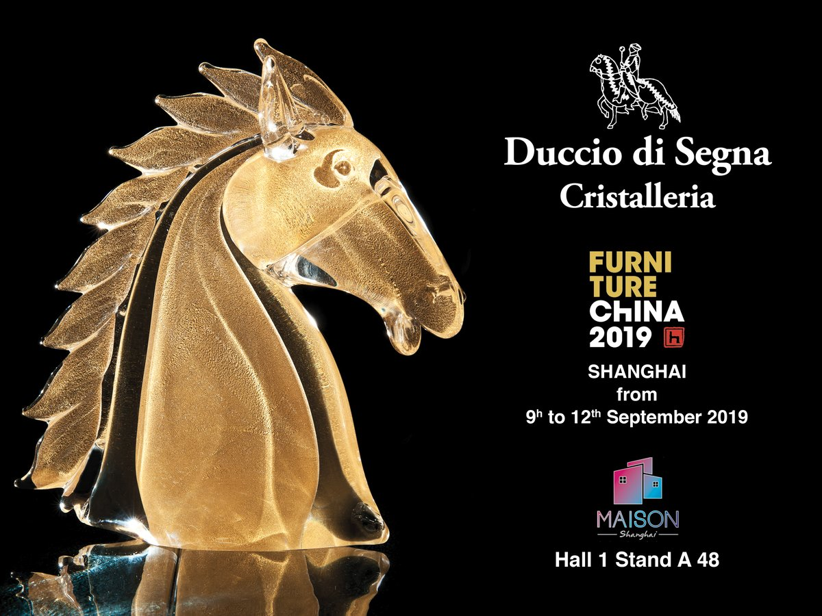 Furniture China 2019 Duccio di Segna cristalleria