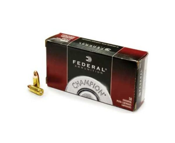 Federal Champion 9mm 50-Rounds 115 Grain FMJ