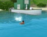 Teen mermaid swimming