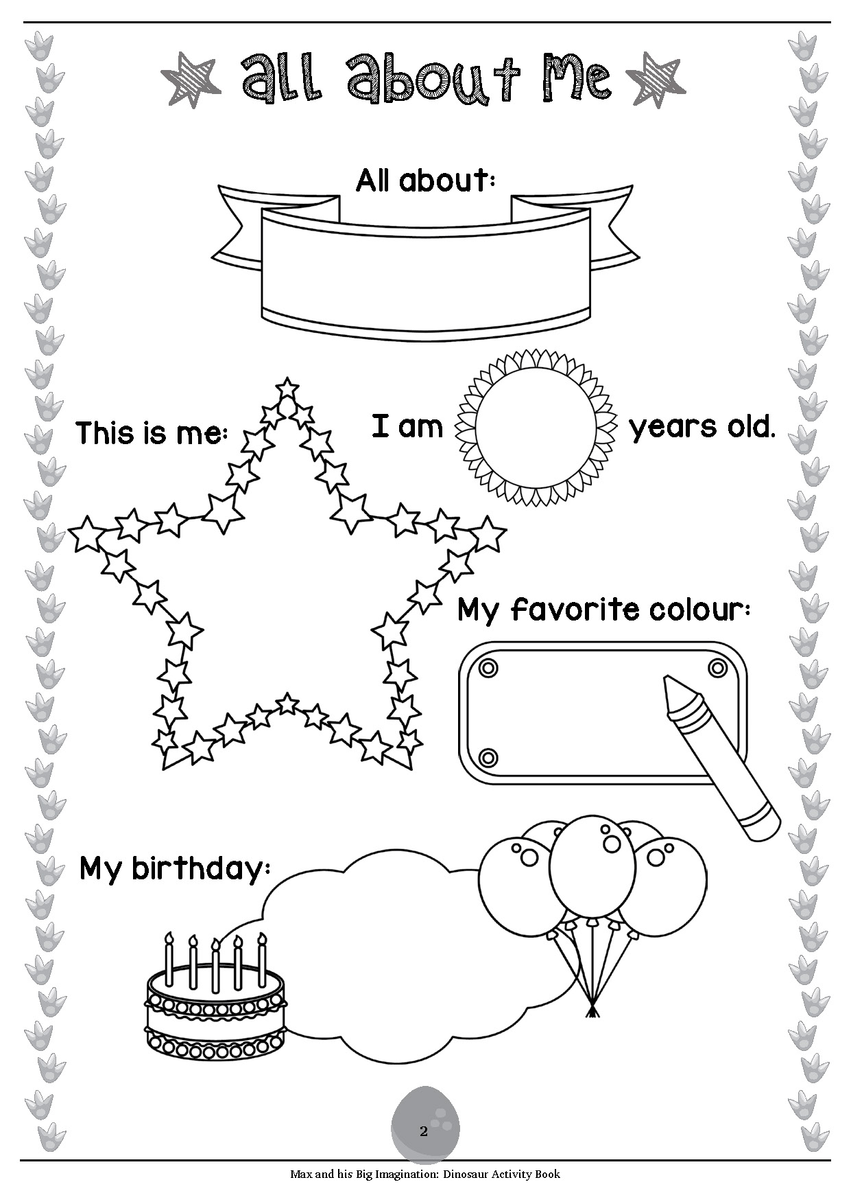Dino Worksheet 2 Year Old