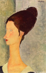 Amedeo Modigliani : Jeanne Hebuterne - 1918 - Private collection - Painting - oil on canvas Height 47 cm (18.5 in), Width 33 cm (12.99 in)