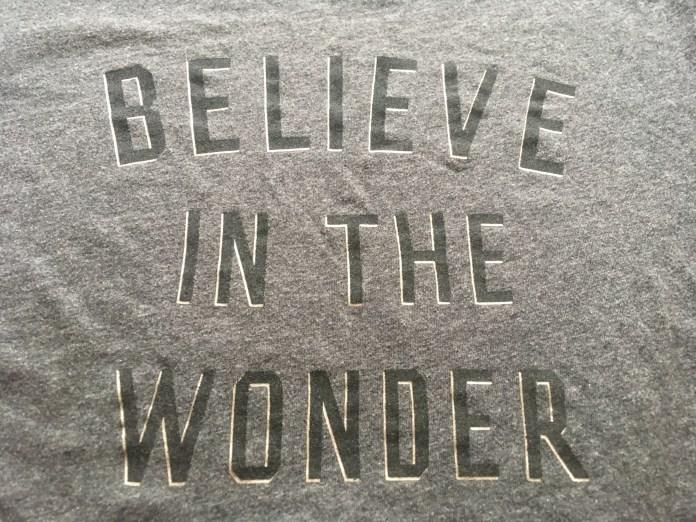 believe in the wonder