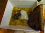 Chicken Cau Cau (Peruvian chicken stew, jalepeno salsa criolla, cumin yogurt)