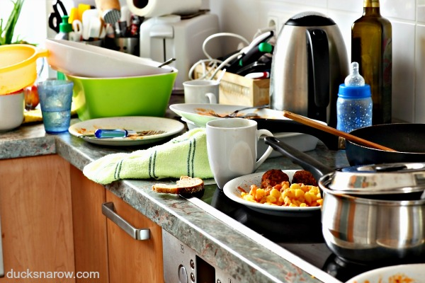 Dirty dishes piled in the kitchen? Tips on how to get through it!