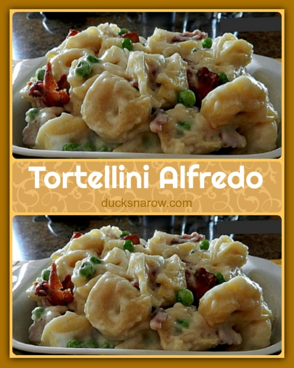 Easy recipe for tortellini alfredo #Italianfood