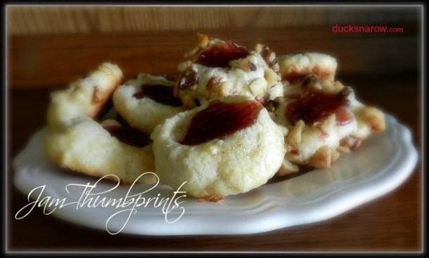 cookies, thumbprint cookies, easy cookie recipe, foodie