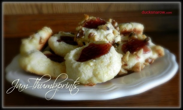 cookies, thumbprint cookies, easy cookie recipe, foodie