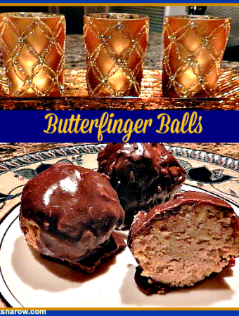 Butterfinger Balls are a delicious and very easy dessert to make #chocolate