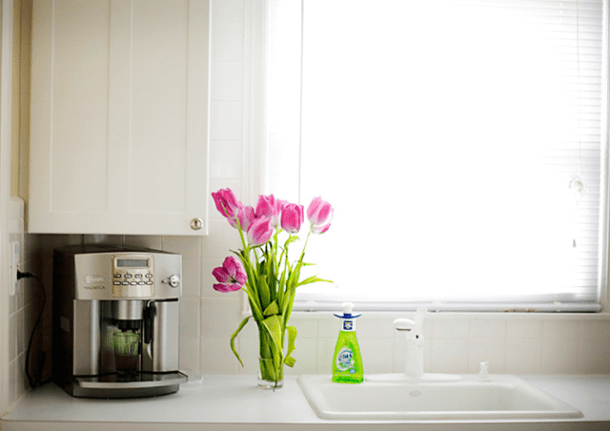 clean counter, kitchen counter, kitchen