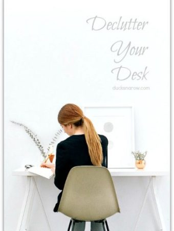 5 tips on how to declutter your desk #tips