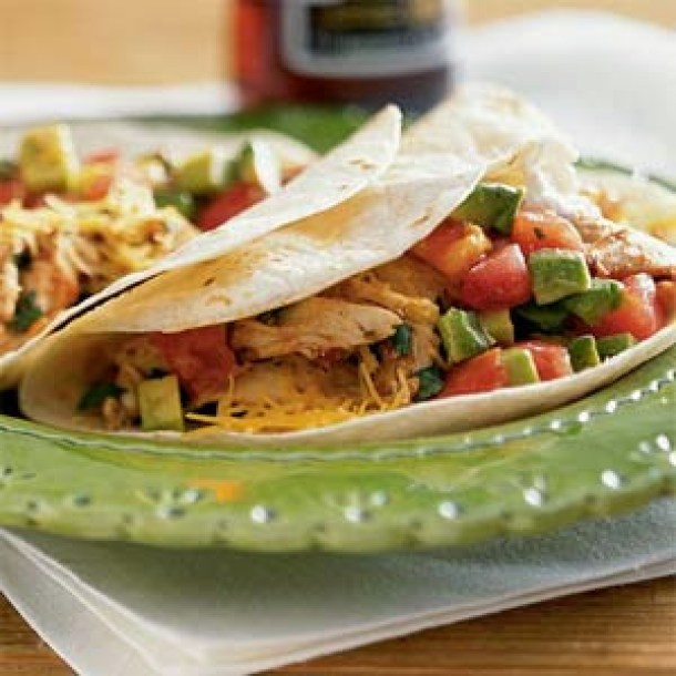Microwave chicken taco recipe from Taste of Home! #recipes
