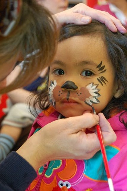 Backyard carnival with face painting