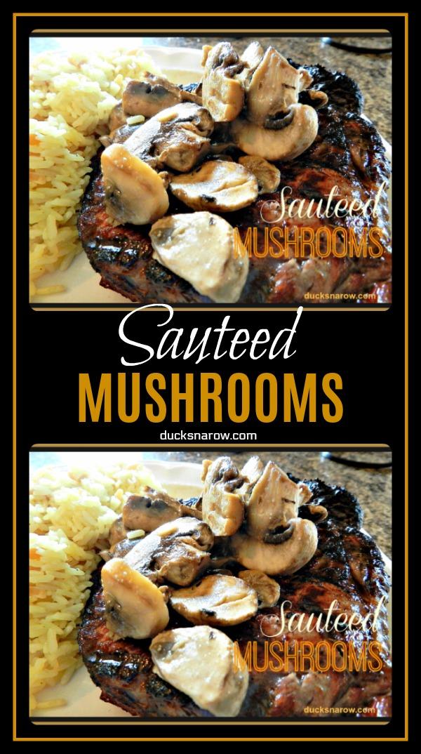 Easy recipe for sauteed mushrooms #recipes