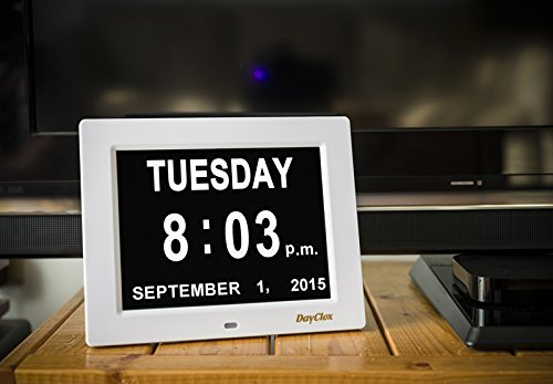 Memory Clock tells time, day, date and year #affiliate #memoryloss #healthy #eldercare
