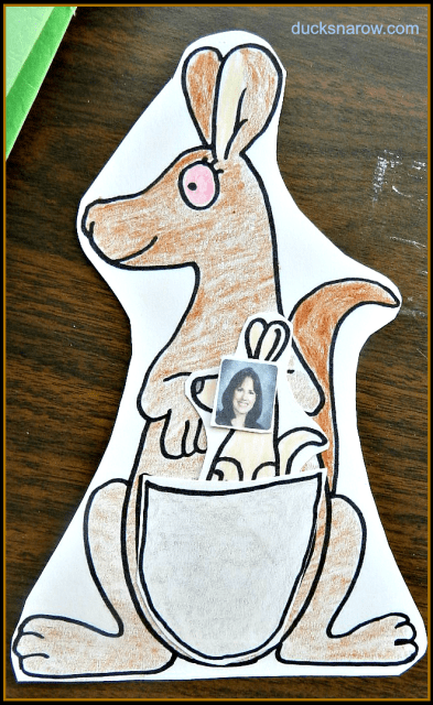 Letter K is for Kangaroo #kidscrafts #kangaroo #preschool