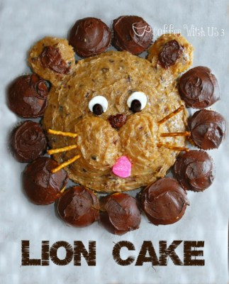 special lion cake snack to accompany preschool L is for Lion lesson