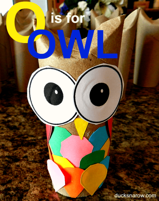 Letter O is for Owl toilet paper roll craft #kids