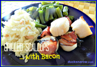 grilled scallops wrapped in bacon
