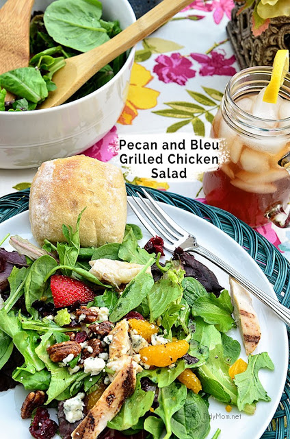Pecan and bleu grilled chicken salad