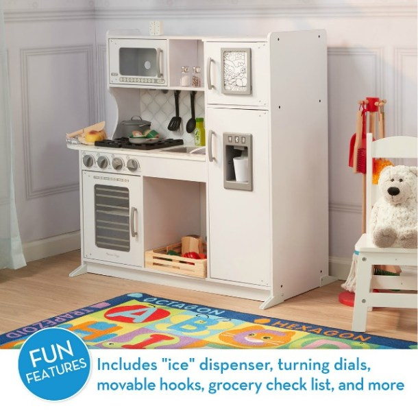 Wooden play kitchen from Melissa & Doug toys #ad
