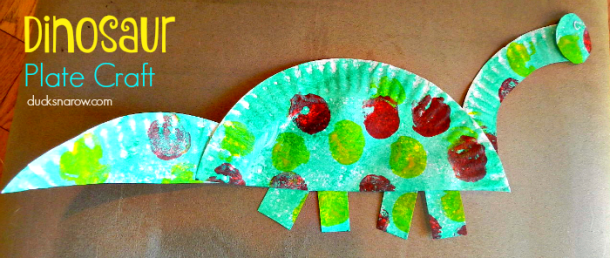 Letter D is for Dinosaur paper plate craft - so cute!