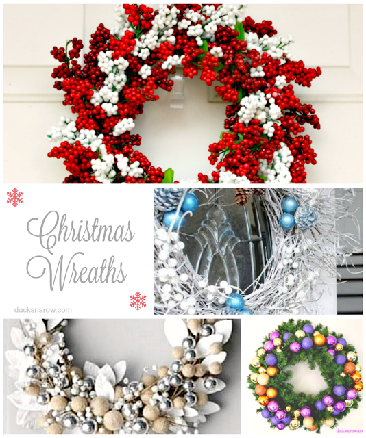 Christmas decorations, homemade wreaths for the holidays
