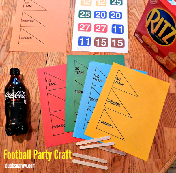 football craft, football party, football food, Game Day