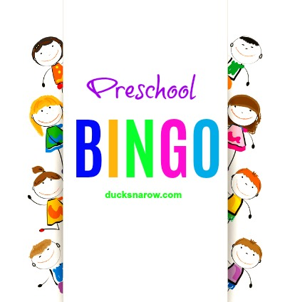 Preschool Bingo game printables and bingo tokens #kidsactivities