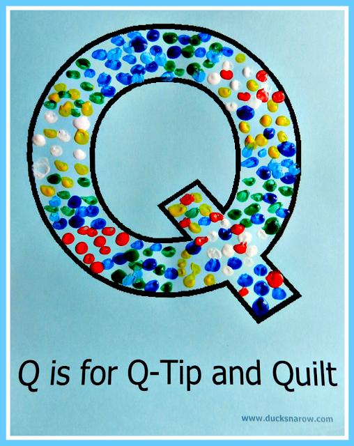 Q painting for kids #preschool