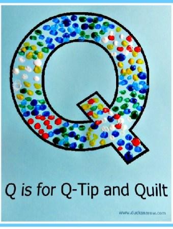 Letter Q dot painting