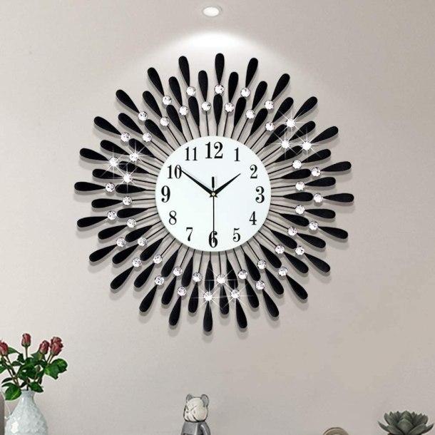 Black drop glamorous wall clock #ad