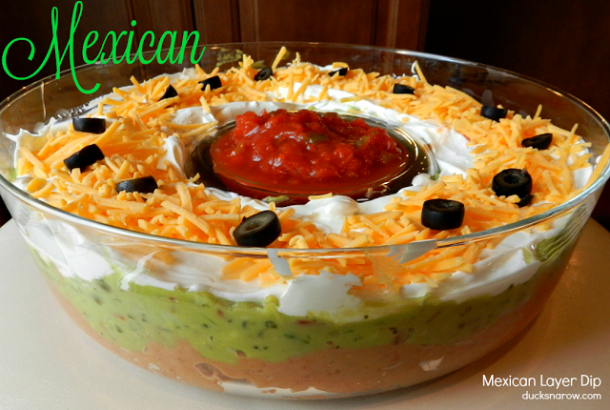 Mexican layer dip #appetizers #recipes