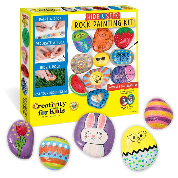 Rock painting kit for kids #ad
