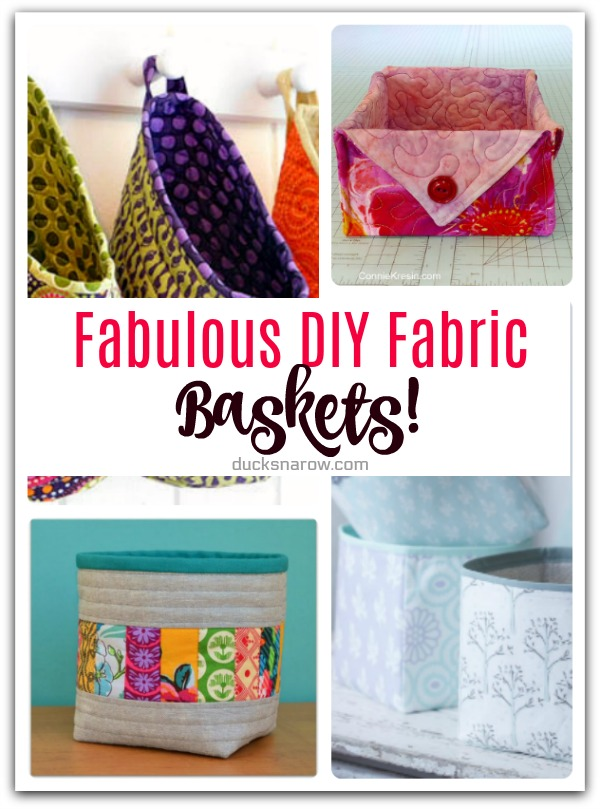 Fabulous DIY Fabric Baskets #sewing #tips