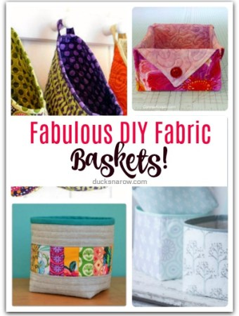 DIY fabric baskets you will love to make! #crafts #sewing #storage